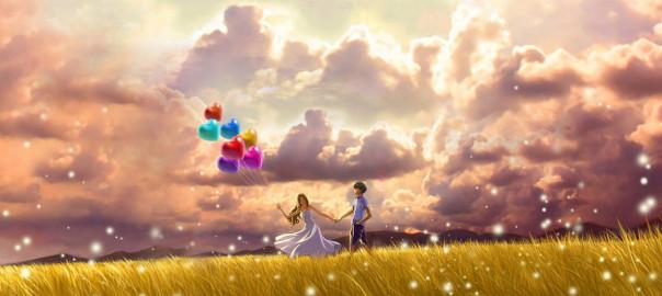 para z balonami mazury